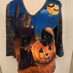 Onque Casual Halloween Top, Like New